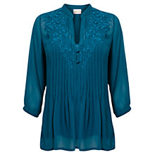 Buy East Embroidered Blouse, Kingfisher Online at johnlewis.com