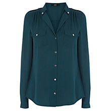 Buy Oasis Silver Button Shirt Online at johnlewis.com