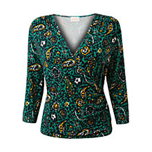 Buy East Romani Print Top, Lagoon Online at johnlewis.com