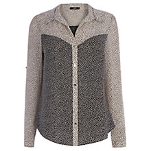 Buy Oasis Spot Patch Shirt, Black/White Online at johnlewis.com