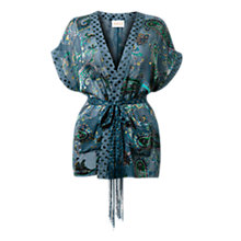 Buy East Odille Paisley Kimono, Teal Online at johnlewis.com