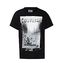 Buy Converse Boys' Graphic Print T-Shirt, Black Online at johnlewis.com