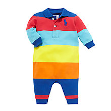 Buy Polo Ralph Lauren Big Pony Polo Romper, Multi Online at johnlewis.com