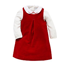Buy Polo Ralph Lauren Baby's Collared Dress, Red Online at johnlewis.com