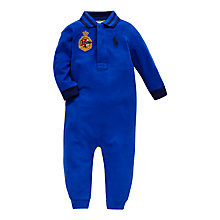 Buy Polo Ralph Lauren Baby's Coming Going Sleepsuit, Pacific Blue Online at johnlewis.com