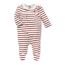 Buy Polo Ralph Lauren Baby's Stripe Romper, Red/White Online at johnlewis.com