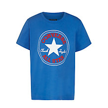 Buy Converse Boys' Chuck Taylor T-Shirt, Blue Online at johnlewis.com