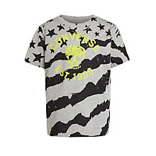 Buy Converse Skull & Stripes Print T-Shirt Online at johnlewis.com