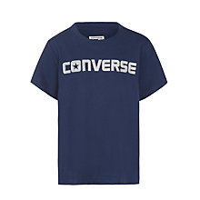 Buy Converse Boys' Signature T-Shirt, Navy Online at johnlewis.com