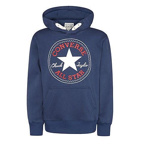 buy converse boys 39 pullover hoodie navy john lewis. Black Bedroom Furniture Sets. Home Design Ideas