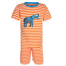 Buy John Lewis Boy Stripe Pyjamas, Cream/Orange Online at johnlewis.com