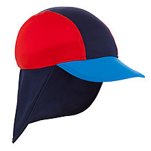 Buy John Lewis Boy UV Keppi Hat, Blue/Red Online at johnlewis.com
