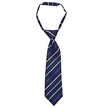 Buy John Lewis Children's Stripe Tie, Navy Online at johnlewis.com