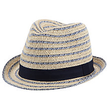 Buy John Lewis Striped Straw Hat, Natural Online at johnlewis.com