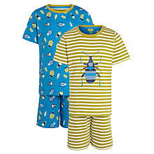 Buy John Lewis Boy Short Bug Pyjamas, Pack of 2 Online at johnlewis.com