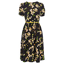 Buy Oasis Blossom Midi Dress, Multi Black Online at johnlewis.com