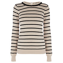 Buy Oasis Necklace Striped Top, Multi Black Online at johnlewis.com