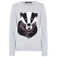 Buy Sugarhill Boutique Badger Cotton Jumper, Grey Online at johnlewis.com