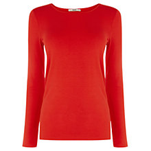 Buy Oasis Crew Neck Jumper, Blood Orange Online at johnlewis.com