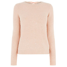 Buy Oasis Sequin Bow Back Jumper Online at johnlewis.com