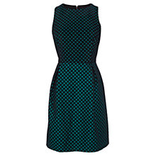 Buy Coast Ellis Jacquard Dress, Green Online at johnlewis.com