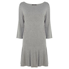 Buy Coast Jasone Knitted Dress, Grey Melange Online at johnlewis.com