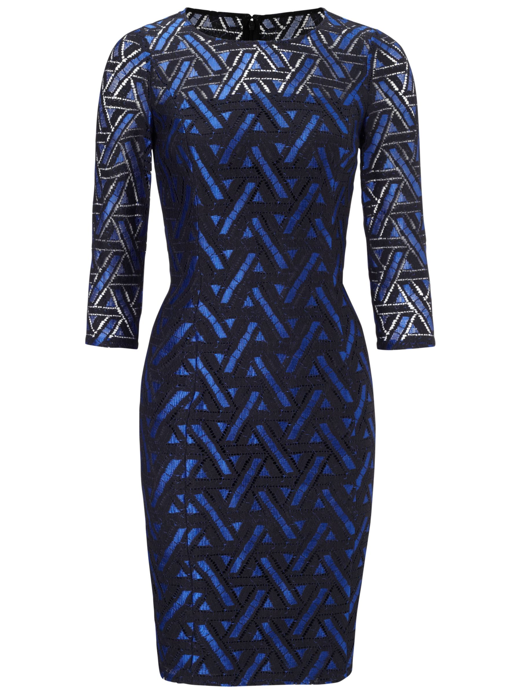 adrianna papell geometric lace dress navy/bright blue, adrianna, papell, geometric, lace, dress, navy/bright, blue, adrianna papell, 8|14|12|16, women, plus size, brands a-k, womens dresses, special offers, womenswear offers, womens dresses offers, 1729391
