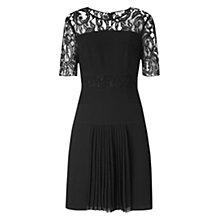 Buy Whistles Beth Lace Insert Dress, Black Online at johnlewis.com