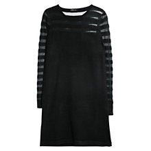Buy Mango Mixed Striped Dress, Black Online at johnlewis.com