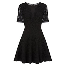 Buy Whistles Winona Lace Dress, Black Online at johnlewis.com