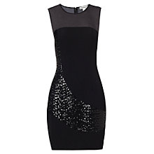 Buy Whistles Sequin Panel Dress, Black Online at johnlewis.com