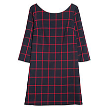 Buy Mango Check Shift Dress, Navy Online at johnlewis.com