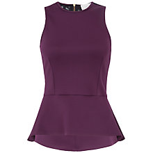 Buy Almari Lace Back Peplum Top, Magenta Online at johnlewis.com
