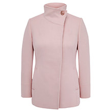 Buy Viyella Funnel Neck Coat, Pale Pink Online at johnlewis.com