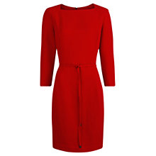 Buy Mango Belted Crepe Dress, Bright Orange Online at johnlewis.com