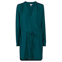Buy Mango V Neckline Dress, Dark Green Online at johnlewis.com