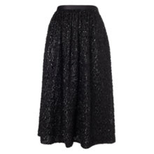 Buy Whistles Cecil Sparkle Skirt, Black Online at johnlewis.com