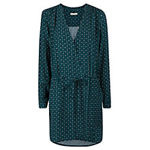 Buy Mango Printed Dress, Dark Green Online at johnlewis.com