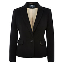 Buy Viyella Wool Blend Teddy Jacket, Black Online at johnlewis.com