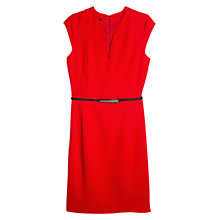 Buy Mango Skinny Belt Dress, Bright Red Online at johnlewis.com
