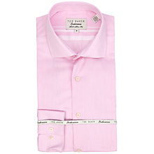 Buy Ted Baker Slick Rick Fine Stitch Stripe Shirt, Pink Online at johnlewis.com