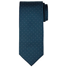 Buy CK Calvin Klein Pindot Silk Tie, Teal Online at johnlewis.com