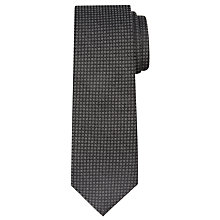 Buy CK Calvin Klein Semi Plain Dot Tie, Onyx Online at johnlewis.com
