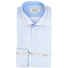 Buy Ted Baker Endurance Slick Rick Geo Square Print Shirt, Blue Online at johnlewis.com