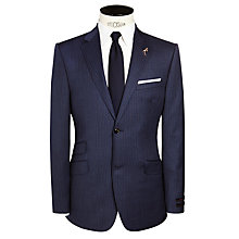 Buy Ted Baker Beadjak Sterling Pinstriped Suit Jacket, Blue Online at johnlewis.com