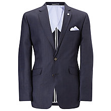 Buy John Lewis Herringbone Tailored Jacket, Navy Online at johnlewis.com