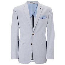 Buy John Lewis Seersucker Stripe Blazer, Blue/White Online at johnlewis.com