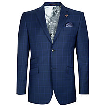 Buy Ted Baker Endurance Benjak Sterling Wool Check Suit Jacket, Bright Blue Online at johnlewis.com