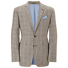 Buy John Lewis Tailored Check Jacket, Stone Online at johnlewis.com