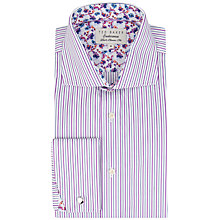 Buy Ted Baker Endurance Takeley Sterling Twin Stripe Shirt, Purple Online at johnlewis.com